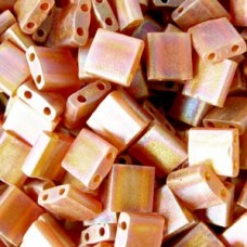 Tila Bead 5mm Matte Tran Dk Topaz Ab 50 Gm (134FR)