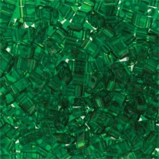 Tila 1/2 Cut 5mm Trans Green -50 Gm/bg (146)