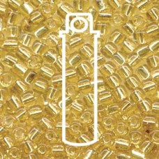 Miyuki 10/0 Triangle Silver Lined Amber -apprx 24gm/tb (1102)