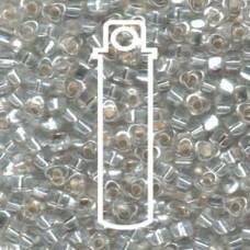 Miyuki 5/0 Triangle Silver Lined Clear -apprx 22gm/tb (1101)