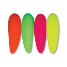 Tooth 6x16mm Neon Lt Mix 25 Bds/st- 6st/bg