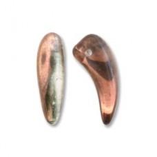 Tooth 6x16mm Crystal Capri Gold-25bds/st 6st/bg