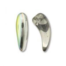 Tooth 6x16mm Crystal Vitrail-25bds/st 6st/bg