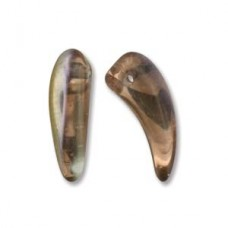 Tooth 6x16mm Crystal Sliperit-25bds/st 6st/bg