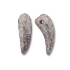 Tooth 6x16mm White Trcta Copper-25bds/st 6st/bg