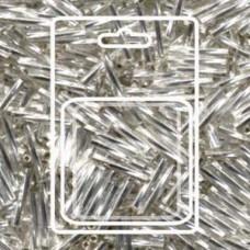 Tw Bgl 2x12mm Miyuki Appx 13gm/cd S/l Crystal (1)