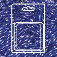 Tw Bgl 2x12mm Miyuki Appx 13gm/cd Tr Cobalt Ab (177)