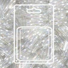 Tw Bgl 2x12mm Miyuki Appx 13gm/cd Crystal Ab (250)