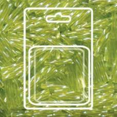 Tw Bgl 2x12mm Miyuki Appx 13gm/cd Tr Chartreuse Ab (258)