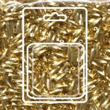 Tw Bgl 2x6mm Miyuki Appx 13gm/cd 24kt Gold Plated (191)
