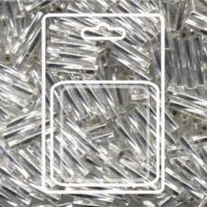 Twisted Bugle 2.7x12mm S/l Crystal-aprx 13gm/cd (1)