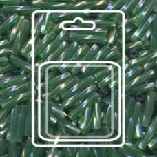 Twisted Bugle 2.7x12mm Tr Green Ab-aprx 13gm/cd (179)