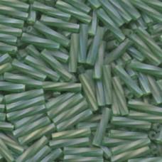 Tw Bgl 2.7x12mm Miyuki 250 Grm Matte Tr Green Ab (179F)