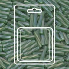 Twisted Bugle 2.7x12mm Matte Tr Green Ab-aprx 13gm/cd (179F)