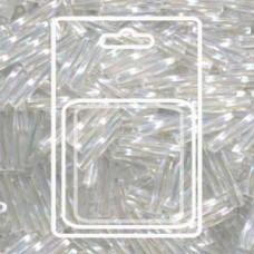 Twisted Bugle 2.7x12mm Crystal Ab-aprx 13gm/cd (250)