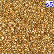 Японский бисер Delica Miyuku 10/0 24KT Gold Plated (DBM0031)