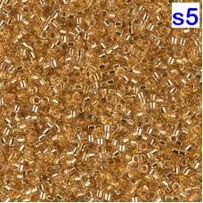 Японский бисер Delica Miyuku 15/0 24KT Gold Lined Crystal (DBS0033)