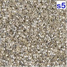 Японский бисер Delica Miyuku 8/0 Metallic Galvanized Silver (DBL0035)