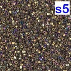 Японская рубка Delica Miyuku 11/0 Metallic Golden Olive Iris (DBC0029)