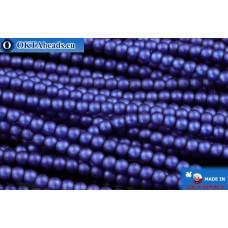 Чешский стеклянный жемчуг синий матовый (70033M) 2мм, ~600шт