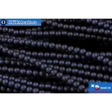 Чешский стеклянный жемчуг кобальт матовый (70063M) 2мм, ~600шт