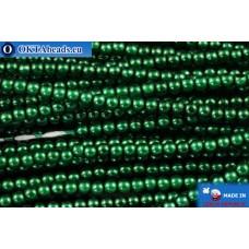 Чешский стеклянный жемчуг зеленый (70057) 2мм, ~600шт