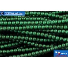 Чешский стеклянный жемчуг зеленый матовый (70057M) 2мм, ~600шт