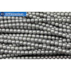 Чешский стеклянный жемчуг серый матовый (70041M) 4мм, ~600шт