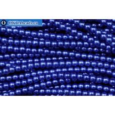 Чешский стеклянный жемчуг синий (70033) 3мм, ~600шт