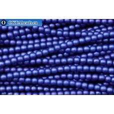 Чешский стеклянный жемчуг синий матовый (70033M) 4мм, ~600шт