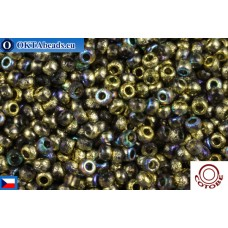 COTOBE Beads CZ 11/0 Half Gold Etched Rainbow (04007)