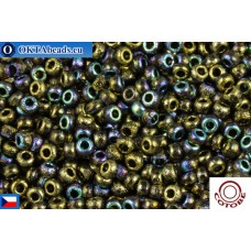 COTOBE Beads CZ 11/0 Gold Etched Rainbow (04008)