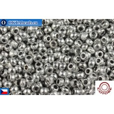 COTOBE Beads CZ 11/0 Silver Etched (04013)
