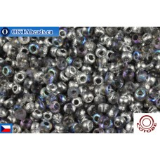 COTOBE Beads CZ 11/0 Half Silver Etched Rainbow (04014)
