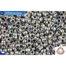 COTOBE Beads CZ 11/0 Silver Etched Rainbow (04015)