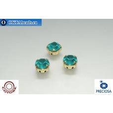 Шатоны COTOBE ss39 Blue Zircon Матовые Золото 36шт