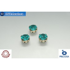 Шатоны COTOBE ss39 Blue Zircon Матовые Платина 36шт