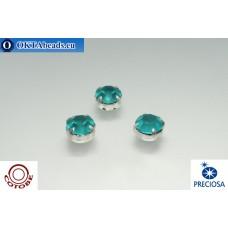 Шатоны COTOBE ss39 Blue Zircon Матовые Серебро 36шт