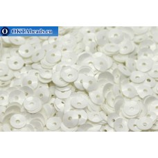 Итальянские пайетки чаши 4мм Bianco Ghiaccio Opaline 1004 50гр