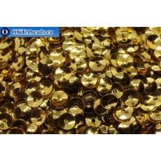 Итальянские пайетки чаши 4мм Oro Metallizzati 2011 50гр