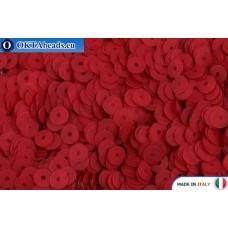 Итальянские плоские пайетки 4мм Rosso Fancy (466F)