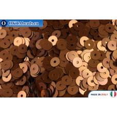 Итальянские плоские пайетки 4мм Bronzo Metal (8179)