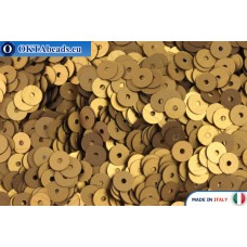 Итальянские плоские пайетки 4мм Bronzo Satinati (836W)