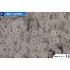 Итальянские плоские пайетки 4мм Grigio Fumo Fancy (906F)