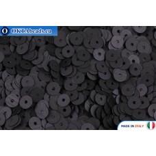 Итальянские плоские пайетки 4мм Nero Satinati (996W)