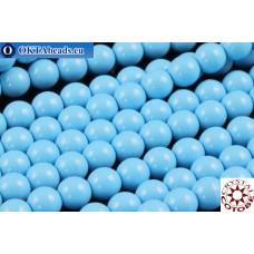 Чешский стеклянный жемчуг 4мм Ceramic Aqua Blue 600шт