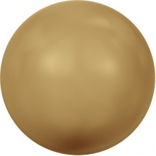 Swarovski жемчуг 5810 5мм Crystal Bright Gold Pearl (306)