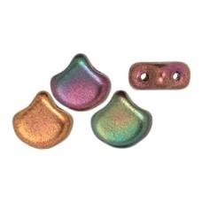DG-8 Ginkgo бусины 7,5х7,5мм Matte - Metallic Bronze Iris (K0164) - 50гр