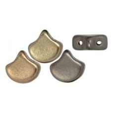 DG-8 Ginkgo бусины 7,5х7,5мм Matte - Metallic Leather (K0167) - 50гр