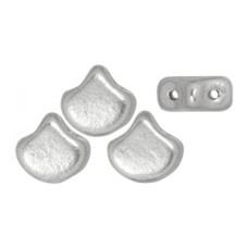 DG-8 Ginkgo бусины 7,5х7,5мм Matte - Metallic Silver (K0170) - 50гр
